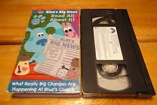 Blues Clues - Read All About It! (VHS, 2001) Nick Jr - Nickelodeon - Tested-Rare