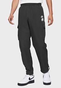 Nike Sportswear World Tour Woven Cargo Pants Men's Black White Casual Trousers