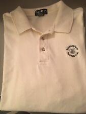 CARLYLE Birmingham Invitational Golf Polo Shirt, Off White, Size Men's XL