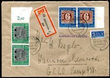BUND 1949 113,115 je im PAAR auf R-ERSTATGSBRIEF SELTEN (H5226