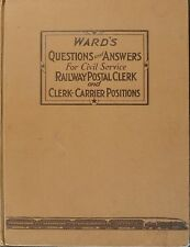 WARD'S QUESTIONS & ANSWERS CIVIL SERVICE RAILWAY POSTAL CLERK & CLERK-CARRIERS