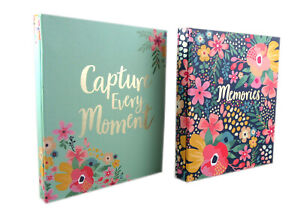 """PACK OF 2 Slip In Photo Albums each storing 120 Photos 6""""x 4"""" Totaling  240"""