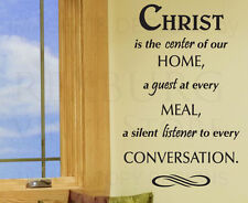 Wall Sticker Decal Quote Vinyl Art Christ the Center of Our Home Religious R8
