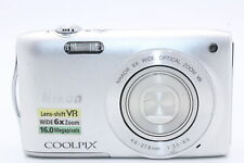 Nikon Coolpix S3300 16MP Silver Compact Camera + BATT CHARGER SD