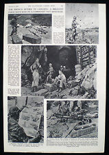 FRENCH RAID ON LANG SON VIETNAM FIRST INDOCHINA WAR 1pp PHOTO ARTICLE 1953