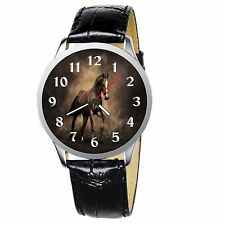 Majestic Horse Stainless Wristwatch Wrist Watch