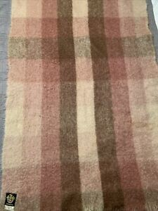 LIBERTY OF LONDON Blanket Mohair Wool 52 X 32 Fringed Throw