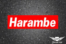 "HARAMBE 2X7"" SLAP STICKER DECAL VINYL JDM EURO BUMPER BOOST DRIFT CIVIC CAR"