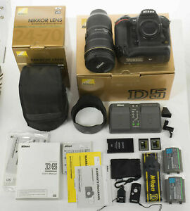 """Nikon D5 - """"Complete Kit"""" Excellent Condtion, Extremely Low Shutter Count!"""