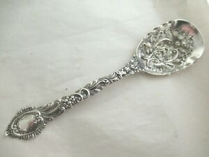 Solid Silver  LARGE SIFTER BERRY SPOON   Hallmarked:-LONDON 1892