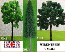 2 YES TWO G SCALE TREES GARDEN 45mm GAUGE RAILWAY MODEL REALISTIC TRAIN SCENERY