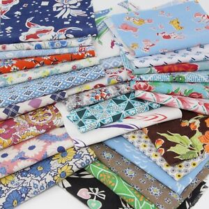 30 Pcs Vintage Flour Feed Sack Fabric 9x6 All Different includes novelty