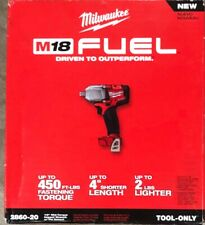 "Brand New Milwaukee M18 Fuel 1/2"" Mid Torque 450ft-lbs 2860-20 Free Shipping"