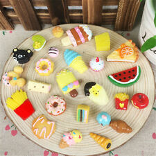 LOT 10Pc Fast food Rilakkuma Squishy Charms Squeeze Slow Rising Toy Gifts Dulcet