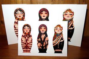 KINKY SEXY CARD Shibari Dominatrix Burlesque Russian DOLL BIRTHDAY GREETING GIFT