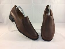 Women's Clarks Brown Leather Slip-on Shoes Size Uk 7