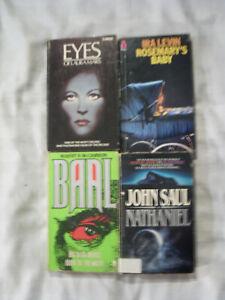 Horror Books x 4 - John Saul - Ira Levin - Robert R. McCammon - H.G.Gilmour