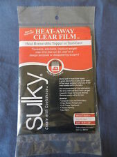 Sulky Heat-Away Clear Film - Heat Removable Topper or Stabilizer