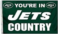 New York Jets Huge 3'x5' Nfl Licensed Country Flag / Banner - Free Shipping