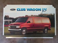 "Ford Club Wagon 1993 Dealer Showroom Promotional Photo Poster 22 1/2"" x 14"""