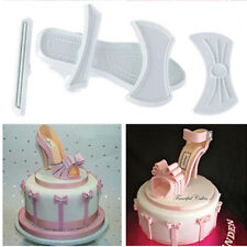 9Pcs DIY High-Heeled Shoes Cake Cutter Mould Sugar Craft Fondant Baking Tool New