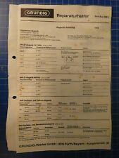 GRUNDIG Reparaturhelfer Solo Boy 500L 1972 Schaltbild H-15978