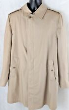 Vintage London Fog Maincoats 42 Long Mens 3/4 Length Trench Coat Liner