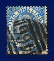 1867 SG118 2s Dull Blue J118(1) RC Major Misperf LiverPool 466 Cat £225 cqkh