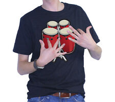 ThumbsUp Electronic Bongo Drums with Real Sound T-Shirt - Medium