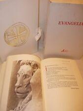 EVANGELIARIO in pelle bianca con Astuccio e Custodia, Nuovo Testamento Vangelo