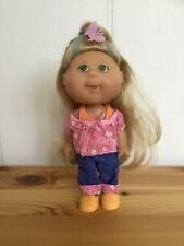 "Cabbage Patch Lil' Sprouts 5"" 12cm doll 2008 Magic Glow blonde shoes top singlet"