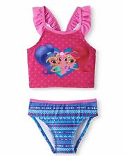 Shimmer & Shine Toddler Girls 2 Piece Swimsuit Size 2T