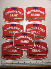 7 Vintage 1989 Northeastern Grand Trap Patches