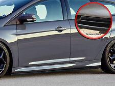 CUP Seitenschweller Schweller ABS für Ford Focus ST Turnier DYB schwarz glänzend