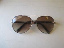 Steve Madden Madden Women Aviator Sunglasses Animal Print Arms S5570 Gold Brown