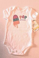 "Baby Starters Infant Baby Girl 9 Months ""Pop Princess"" Bodysuit One-Piece NEW"
