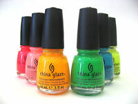 China Glaze Nail Polish POOL PARTY- NEON & SPRING Buy 2 Get 5 % Off *OVERSEA*