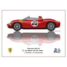 Print on paper Ferrari 275 P #20 Guichet / Vaccarella Winners 24h LM 1964