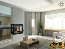 ZUZIA 16 LEFT/RIGHT/TUNNEL - 4 sided Wood/Log Burning Fireplace insert 16Kw
