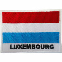 Luxembourg Flag Patch Iron On Sew On Badge Embroidered Embroidery Applique Motif