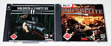 2 PC SPIELE SET SNIPER ELITE & SOLDIER OF FORTUNE II DOUBLE HELIX - FSK 18