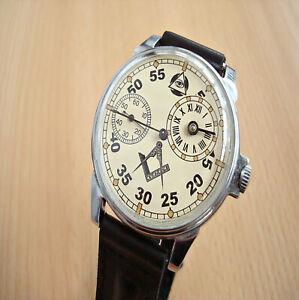 Regulateur Masonic men's watch 18 jewels