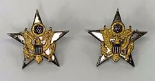 Vintage US Army General Staff Officer Sterling Collar Pins