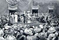 Eröffnung Weltausstellung Brüssel XXL Kunstdruck 1910 König Albert von Belgien
