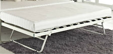 New Metal Day Bed Trundle Only Pull Out Bed Black White Frame with Slatted Base
