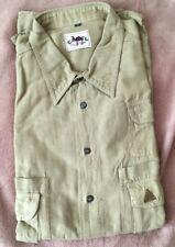 CAMEL COLLECTION - camicia safari - verdino / beige - taglia XL