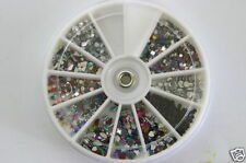 NAIL ART Tips Rhinestones Glitters Gems 1800 Wheel Decoration DIY New A