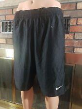 Vintage Nike Swoosh Embroidered Mesh Gym Athletic Shorts Mens Size Medium Black