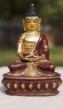 "Brass Meditation Buddha Handmade  Statue In India 4"""