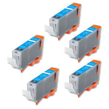 5 Cyan Ink Cartridge + smart chip for CLI-8 CLI-8C MP500 MP530 MP600 MP610